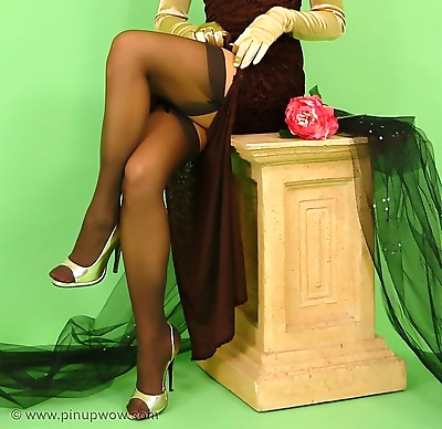 Pinup girl in her fine retro..