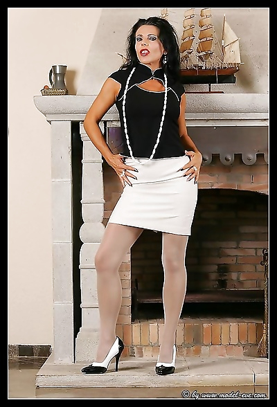 Pantyhose model eve and her..