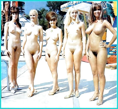 Vintage beach nudist..