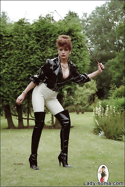 Jodhpurs dominatrix lady..