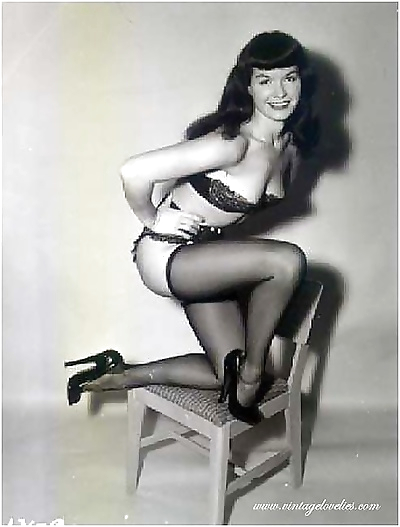 pin-up stella bettie page..