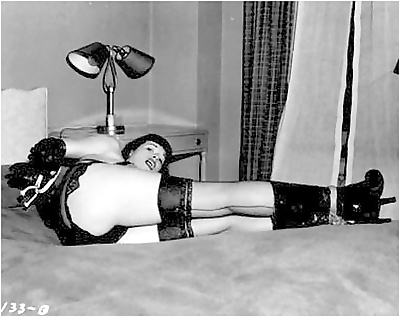 Retro bondage pics with..