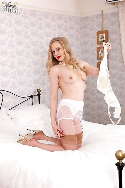 Racy blonde lucy lume enters the bedroom in lovely vintage ff ho - part 252