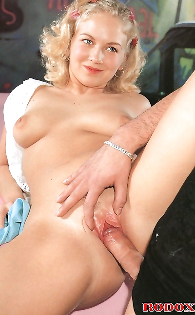 A pretty naked retro blonde fucked hardcore on top of a car - part 812