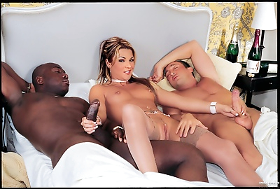 Vintage interracial anal sex threesome with black cock - part 199