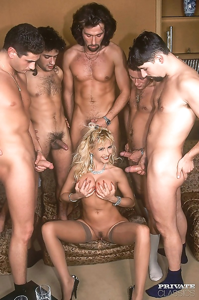Vimtage blonde gangbanged in all holes - part 185
